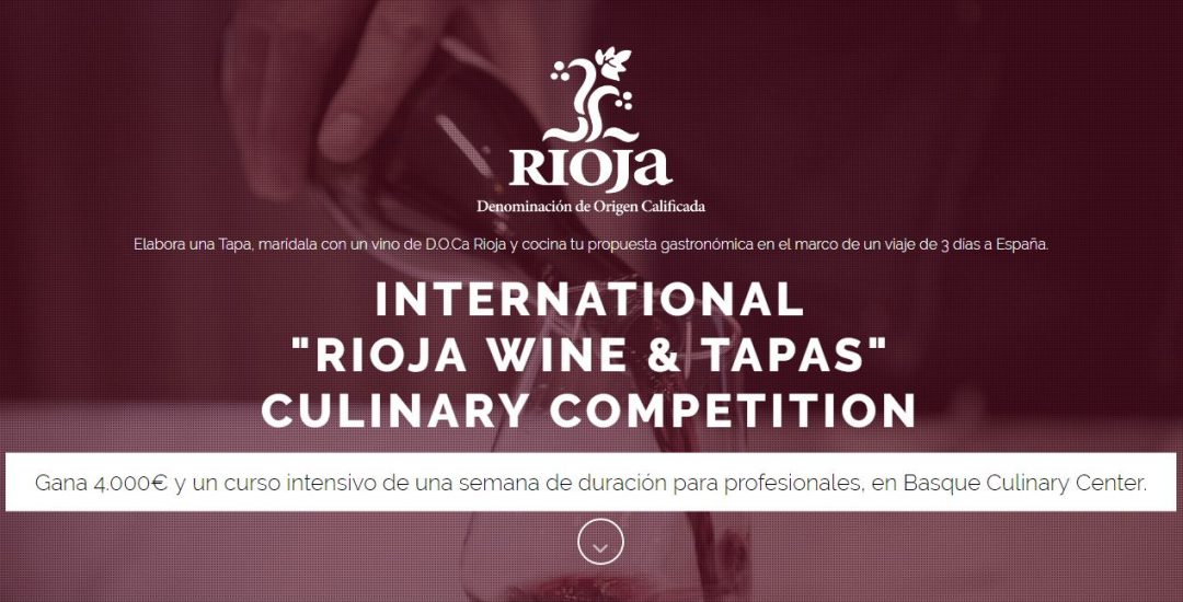 LA DO RIOJA Y BASQUE CULINARY CENTER LANZAN EL CONCURSO INT. 'RIOJA WINE & TAPAS'