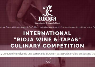 LA DO RIOJA Y BASQUE CULINARY CENTER LANZAN EL CONCURSO INT. 'RIOJA WINE & TAPAS'