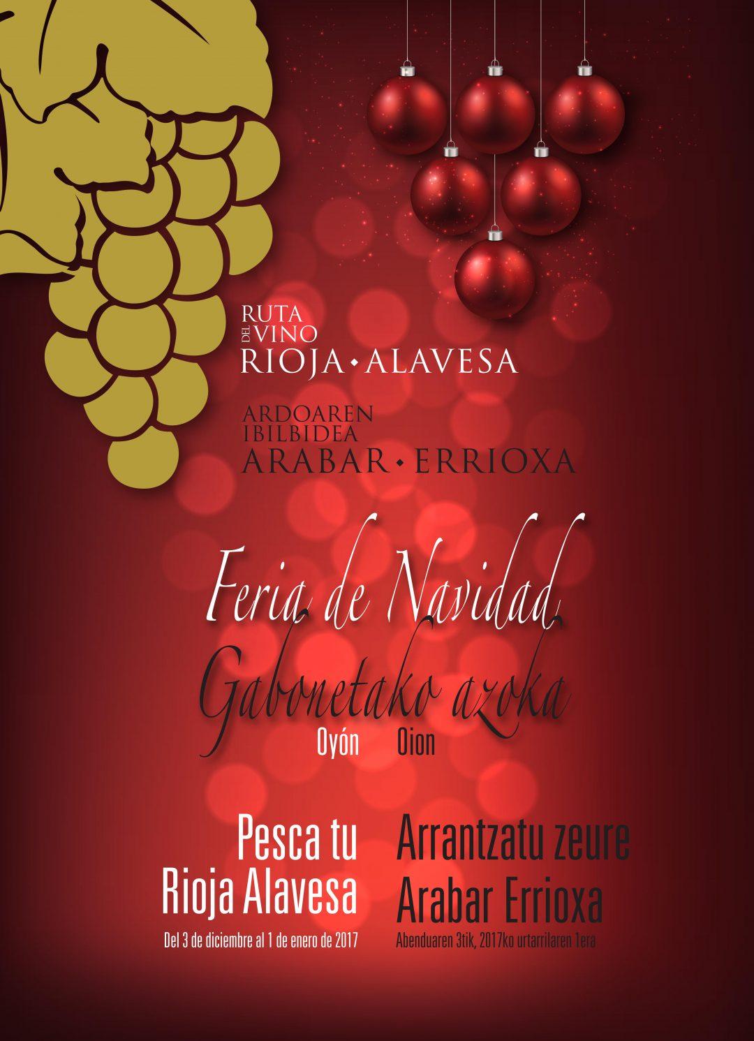 Feria de Navidad en La Ruta del Vino de Rioja Alavesa