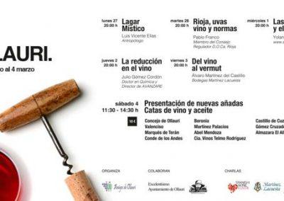 XVIII Semana del vino de Ollauri  (La Rioja) del 27 de febrero al 4 de marzo del 2017.