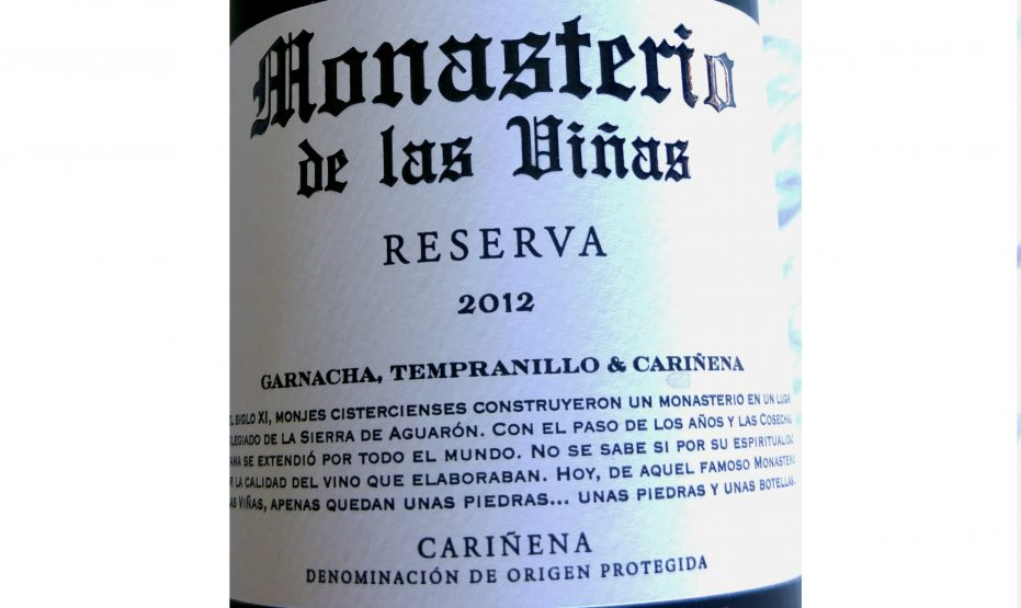 Monasterio de las Viñas Reserva 2012