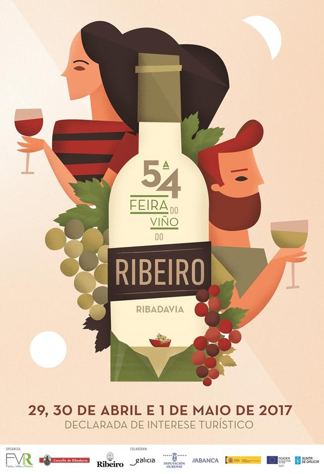 54ª FEIRA DO VIÑO DO RIBEIRO, 29, 20 de Abril y 1 Mayo 2017 en Ribadavia