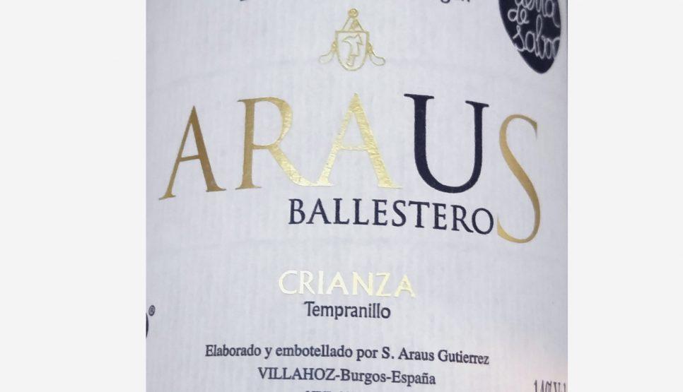 Araus Ballesteros crianza 2012