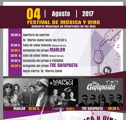 FESTIVAL MÚSICA Y VINO OJOS DEL GUADIANA 4 DE AGOSTO, Villarrubia de los Ojos