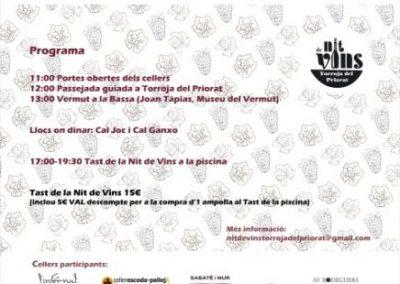 La 10ª Noche de Vinos de Torroja del Priorat (Tarragona) , el 30 de septiembre