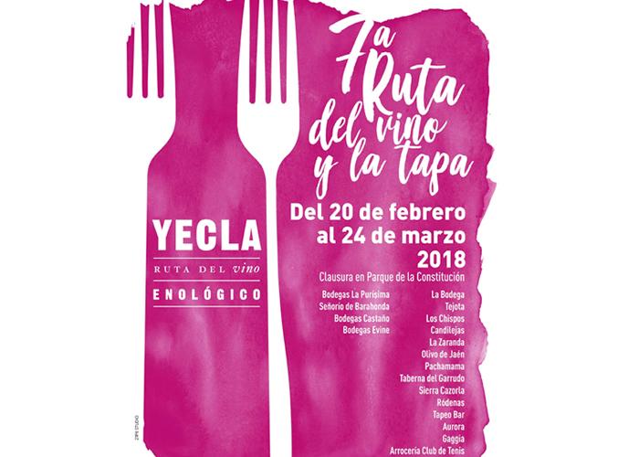 Séptima Ruta del Vino y la Tapa en Yecla (Murcia), del 20 de febrero al 24 de marzo
