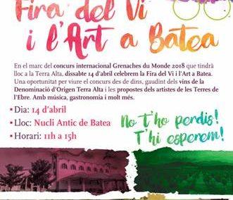 CONCURSO GARNACHAS DEL MUNDO, 14 DE ABRIL EN LA TERRA ALTA