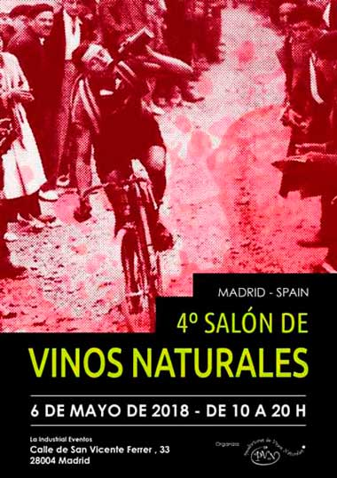 4º Salón de Vinos Naturales Madrid 2018, 6 de mayo.