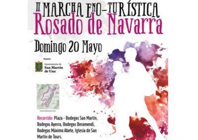 II Marcha Enoturística Rosado de Navarra, en San Martin de Unx  el 20 de mayo
