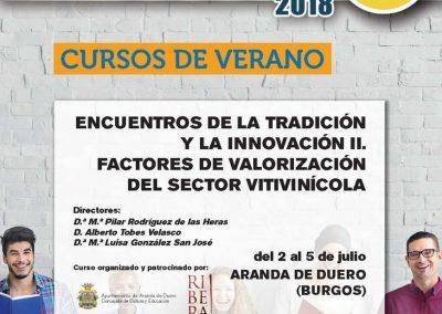 La D.O. Ribera del Duero organiza la XVIII edición del Curso de Verano del Vino, 2 al 5 julio