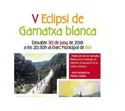 La DO Terra Alta celebra la V edición del Eclipse de Garnacha Blanca, el 30 de Junio