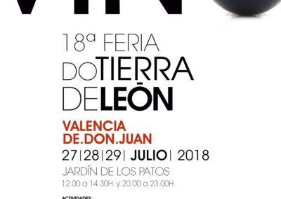 18ª Feria del Vino de la D.O. Tierra de León, 27 al 29 de Julio en Valencia de Don Juan
