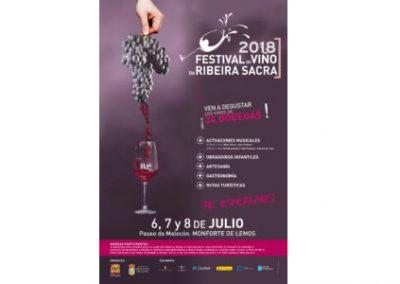 FESTIVAL DO VIÑO DA RIBEIRA SACRA 2018, MONFORTE LOS DÍAS 6, 7 y 8 JULIO