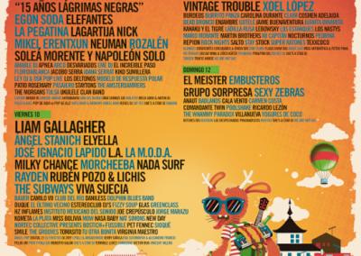 Sonorama Ribera 2018, Aranda del Duero-Burgos del 8 al 12 de agosto