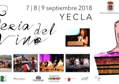 Feria del Vino de Yecla, del 7 al 9 septiembre
