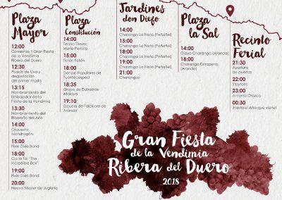 Gran Fiesta de la Vendimia, Aranda del Duero 22 de septiembre